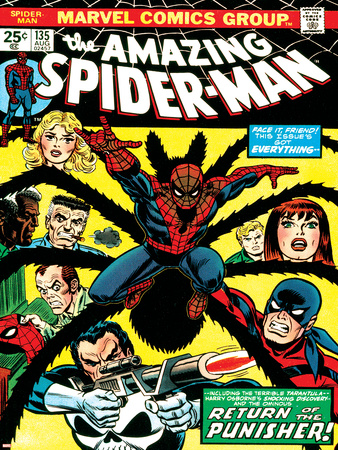 Marvel Comics Retro: The Amazing Spider-Man Comic Book Cover No.135, Return of the Punisher! Prints