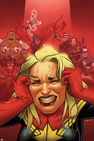 Avengers Assemble 16 Cover: Captain Marvel, Captain America, Black Widow, Hawkeye, Thor, Hulk Posters by Joe Quinones