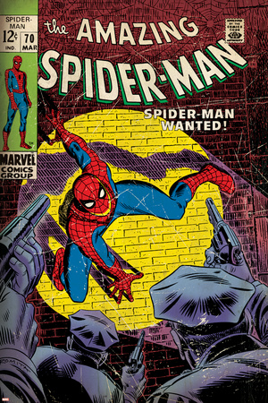 Marvel Comics Retro: The Amazing Spider-Man Comic Book Cover No.70, Wanted! (aged) Pósters