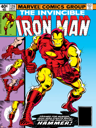 Marvel Comics Retro: The Invincible Iron Man Comic Book Cover No.126, Suiting Up for Battle Print