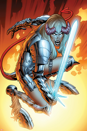 New Mutants No.17: Magik Crouching Print by Kirk Leonard