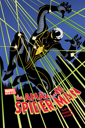 The Amazing Spider-Man No.656 Cover: Spider-Man Jumping at Night Poster by Danny Miki
