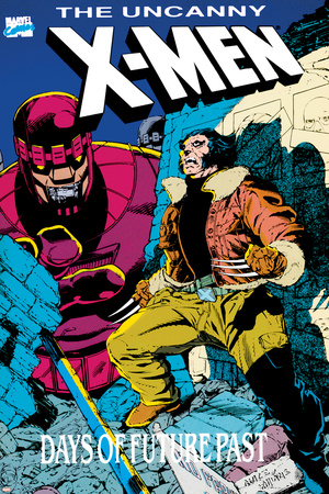 X-Men : Days Of Future Past Cove Cover: Wolverine and Sentinel Print by Jackson Guice