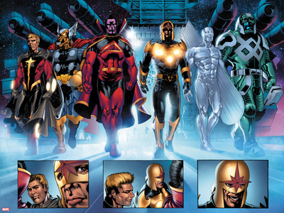 The Thanos Imperative No.3: Quasar, Beta-Ray Bill, Gladiator, Nova, SilverSurfer, Ronan the Accuser Prints by Miguel Angel Sepulveda