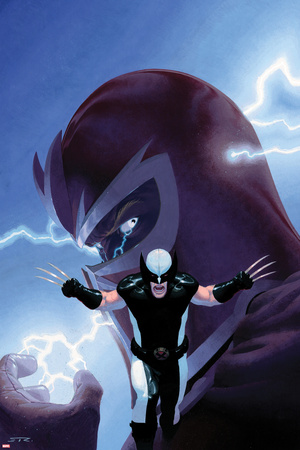 Magneto versus Wolverine, Uncanny X-Force No. 9 cover artwork by Esad Ribic