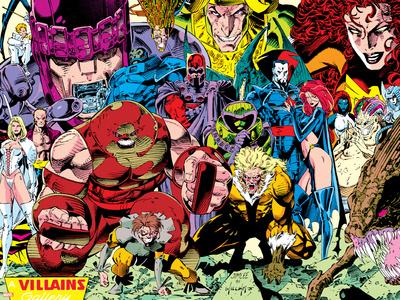 X-Men No.1 Pin-up Group: A Villains Gallery Prints by Jim Lee