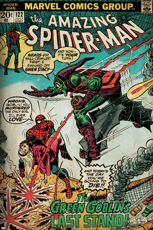 Marvel Comics Retro: The Amazing Spider-Man Comic Book Cover No.122, the Green Goblin (aged) Posters