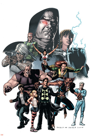 X-Factor No.23 Cover: Madrox, Wolfsbane, Miller, Layla, Siryn and Quicksilver Prints by Pablo Raimondi