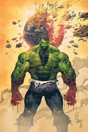 Incredible Hulk No.1 Cover: Hulk Standing Poster by Marc Silvestri