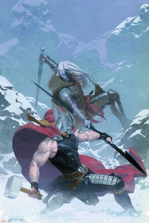 Thor: God of Thunder 16 Cover: Thor, Malekith Print by Esad Ribic