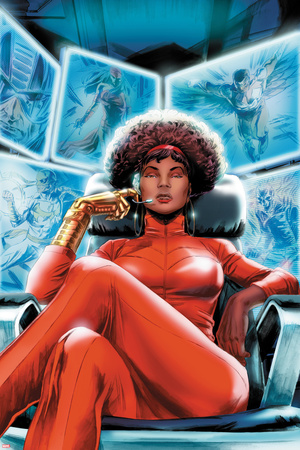 Heroes for Hire No.4 Cover: Misty Knight Sitting Prints by Doug Braithwaite