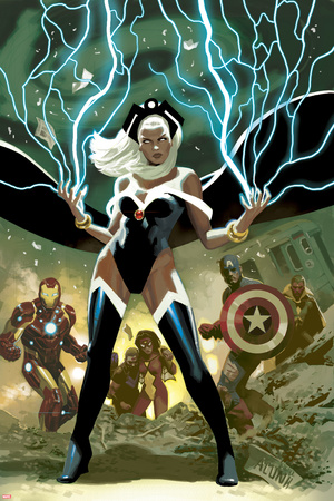 Avengers No.21 Cover: Storm, Captain America, and Iron Man Posters by Daniel Acuna