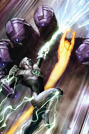 Hunger 3 Cover: Jones, Rick, Captain Marvel Prints by Adi Granov