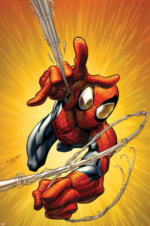 Ultimate Spider-Man No.160 Cover: Spider-Man Shooting Web Print by Mark Bagley