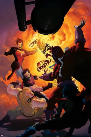 Uncanny X-Force No.11: Magneto, Sabretooth, Wolverine, Jean Grey, Sunfire Prints by Esad Ribic