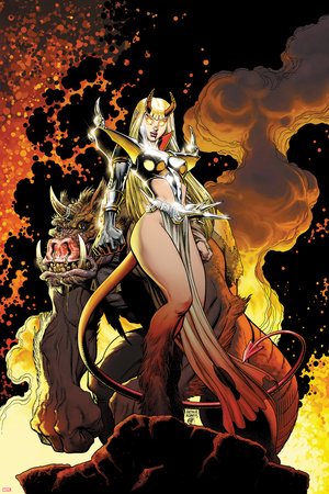 New Mutants Forever No.4 Cover: Magik Posing Photo by Arthur Adams