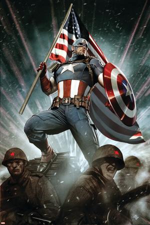 Captain America: Living Legend 1 Cover: Captain America Posters by Adi Granov