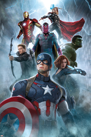 The Avengers: Age of Ultron - Captain America, Black Widow, Hulk, Hawkeye, Vision, Iron Man, Thor plakat