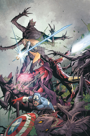 Uncanny X-Men No.9 Cover: Captain America, Magneto, Iron Man, and Magik Prints by Carlos Pacheco
