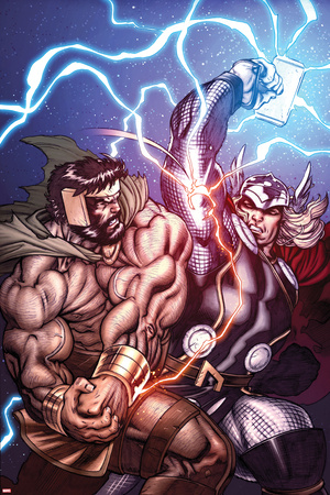 Chaos War No.1 Cover: Hercules and Thor Fighting Prints by Ed McGuinness