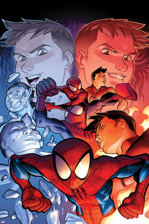 Ultimate Spider-Man No.14 Cover: Spider-Man Posing Print by David LaFuente