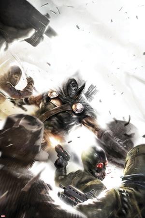 Taskmaster No.2 Cover: Task Master Fighting Posters by Francesco Mattina