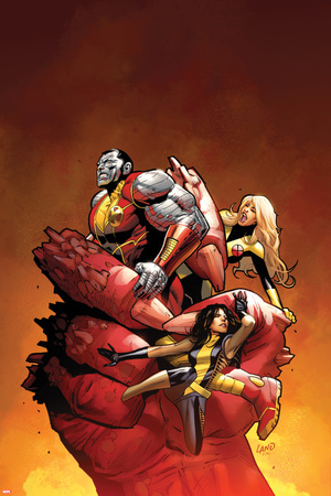 Uncanny X-Men No.542: Colossus, Magik, and Kitty Pryde Photo by Greg Land