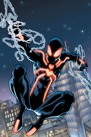The Amazing Spider-Man No.650 Cover: Spider-Man Swinging Print by Humberto Ramos
