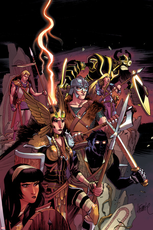 New Mutants No.29 Cover: Karma, Moonstar, Sunspot, Cannonball, Magik, Warlock, and Cypher Posters by David LaFuente