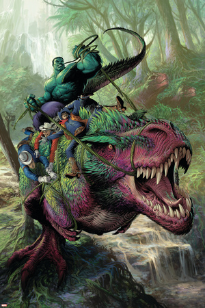 Indestructible Hulk 20 Cover: Hulk, Two-Gun Kid, Kid Colt, Rawhide Kid Prints by Mukesh Singh