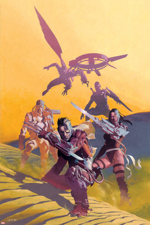 Uncanny X-Force No.6 Cover: Wolverine, Psylocke, and Fantomax Photo by Esad Ribic