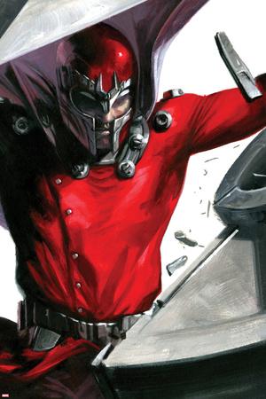 Vengeance No.1 Cover: Magneto Smashing Posters by Gabriele DellOtto
