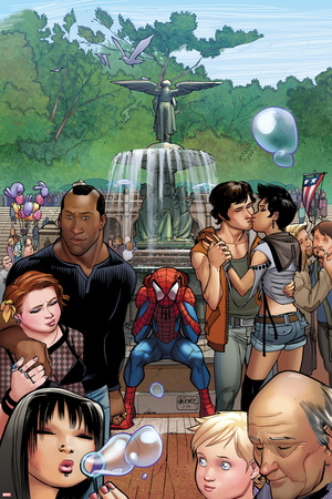 Ultimate Spider-Man No.15 Cover: Spider-Man Sitting Prints by David LaFuente
