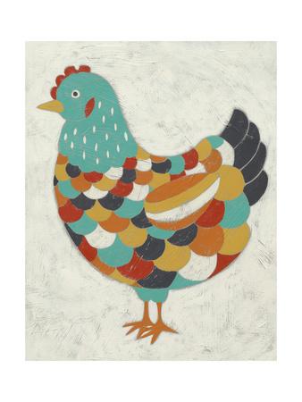 Country Chickens II Prints by Chariklia Zarris