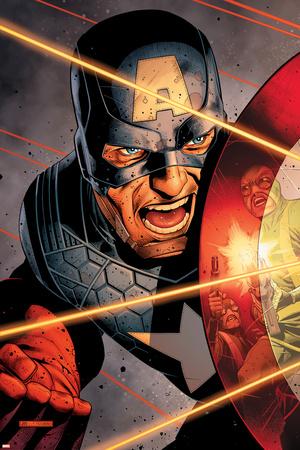 Avengers Assemble Artwork Featuring Captain America Print