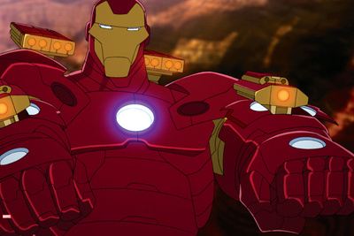 Avengers Assemble Animation Still Featuring Iron Man Prints