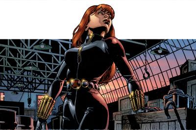 Avengers Assemble Panel Featuring Black Widow Print