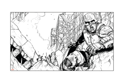 Avengers Assemble Inks Featuring Captain America Posters
