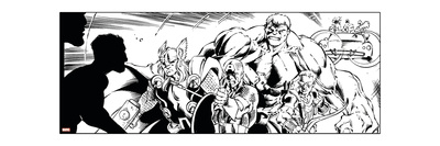 Avengers Assemble Inks Featuring Thor, Captain America, Hawkeye, Hulk Posters