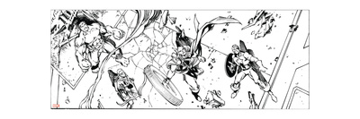 Avengers Assemble Inks Featuring Hulk, Hawkeye, Thor, Captain America Photo