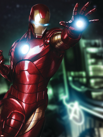 Avengers Assemble Artwork Featuring Iron Man Posters!