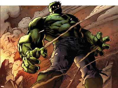 Avengers Assemble Panel Featuring Hulk Posters