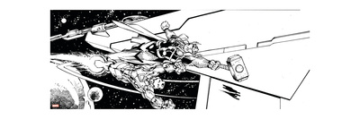 Avengers Assemble Inks Featuring Thor, Iron Man Prints