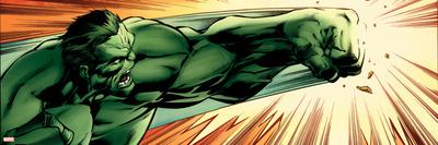 Avengers Assemble Panel Featuring Hulk Póster