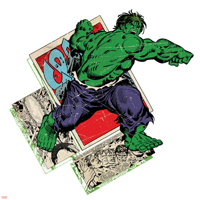 Marvel Comics Retro Badge Featuring Hulk Photo