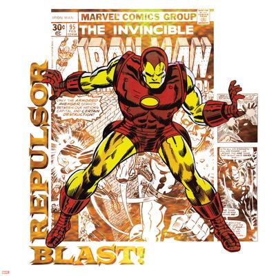 Marvel Comics Retro Badge Featuring Iron Man Posters