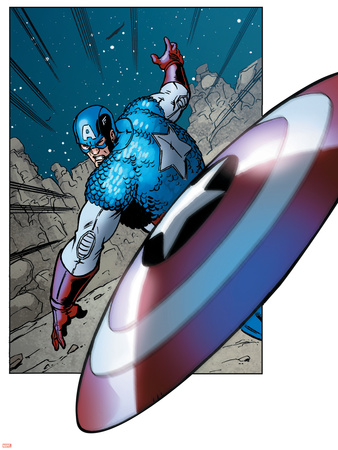 Avengers Assemble Panel Featuring Captain America Poster