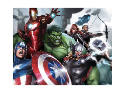 Avengers Assemble Style Guide with Thor, Hulk, Iron Man, Captain America, Hawkeye & More Prints