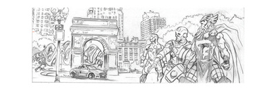 Avengers Assemble Pencils Featuring Iron Man, Captain America, Thor Posters