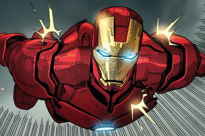 Avengers Assemble Panel Featuring Iron Man Print